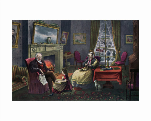 The Season of Rest, Old Age by Currier and Ives