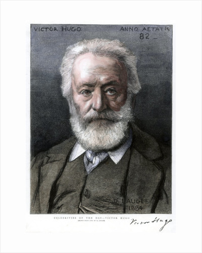 Victor Hugo, French author by D Laugee