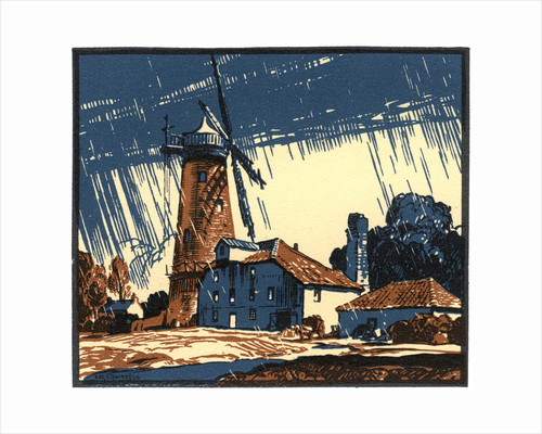 The Old Mill at Blackborough, King's Lynn, Norfolk by Leonard Russell Squirrell