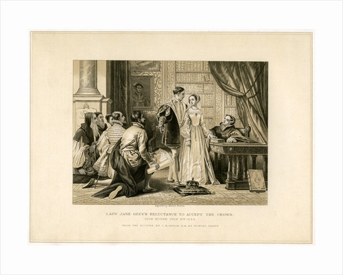 Lady Jane Grey's Reluctance to Accept the Crown by Herbert Bourne