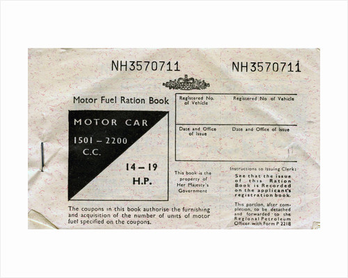 Motor fuel ration book by Anonymous