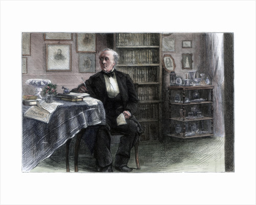 The late Hans Christian Andersen in his study by Hans Christian Andersen