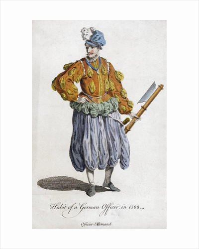 Habit of a German officer in 1588 (18th century) by Anonymous