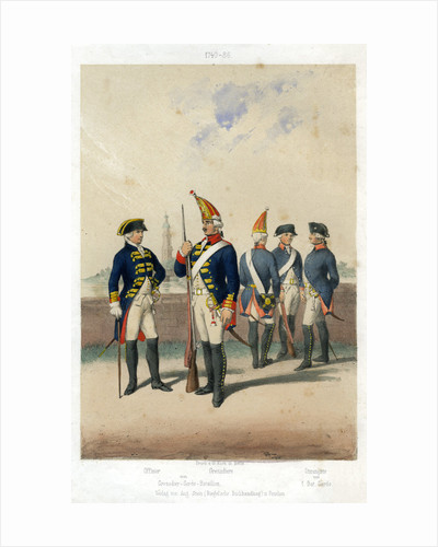 German military uniforms, 1740-1786 ((19th century) by W Korn