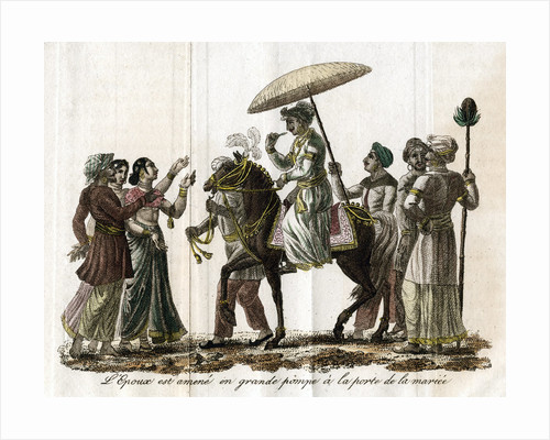 Indian wedding procession by Anonymous