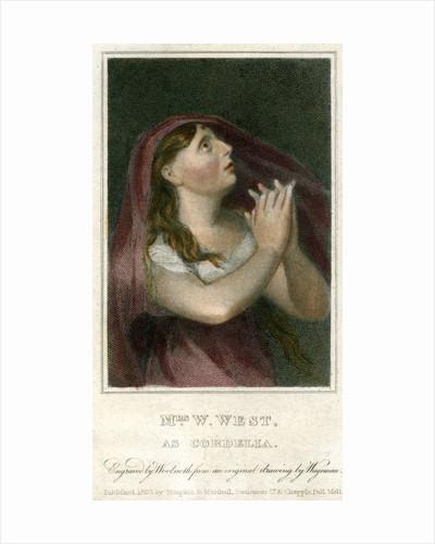 Mrs W West as Cordelia by Thomas Charles Wageman