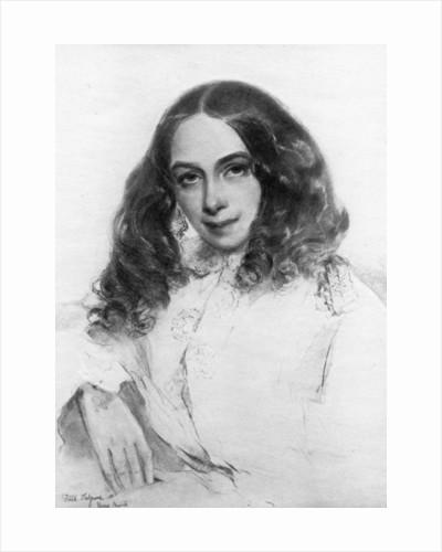 Elizabeth Barrett Browning, British poet by Anonymous
