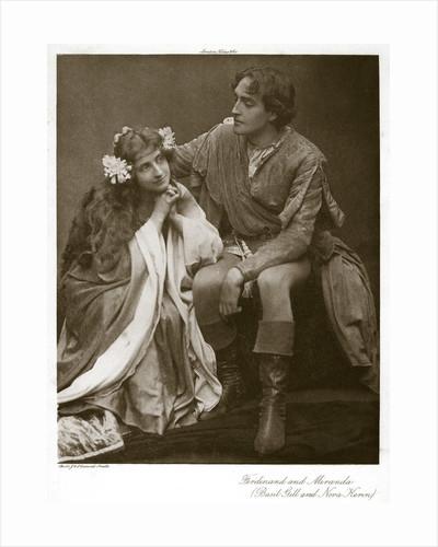 Ferdinand and Miranda by J Caswall Smith