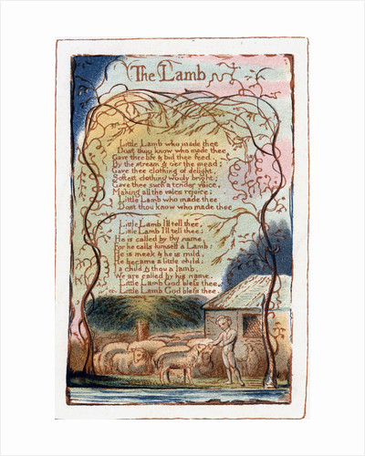 The Lamb, illustration from 'Songs of Innocence and of Experience' by William Blake