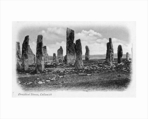 Druidical Stones, Callanish, Isle of Lewis, Western Isles, Scotland by Anonymous