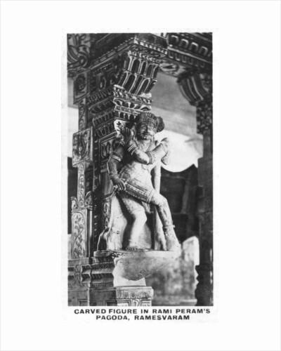 Carved figure in Rami Peram's Pagoda, Ramesvaram, India by Anonymous