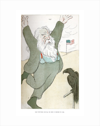 Walt Whitman, Inciting the Bird of Freedom to Soar by Max Beerbohm