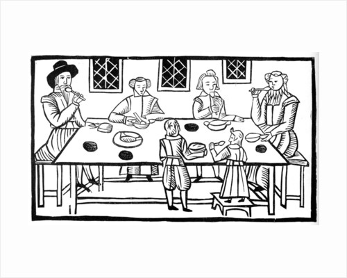 A family meal by Anonymous