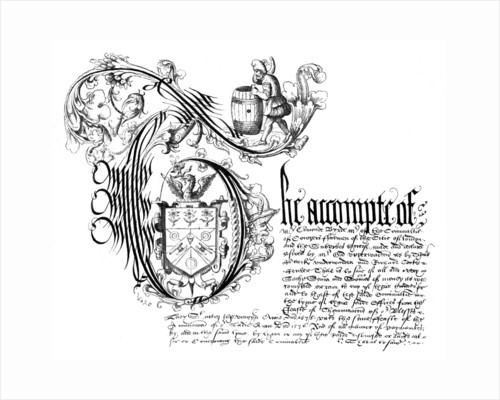 Facsimile from the book of accounts of the Coopers' Company by Anonymous