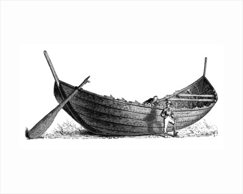 Boat for fourteen pairs of oars, found at Nydam, Jutland by Anonymous