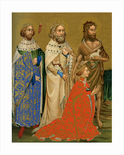 King Richard II of England and his patron saints by Anonymous