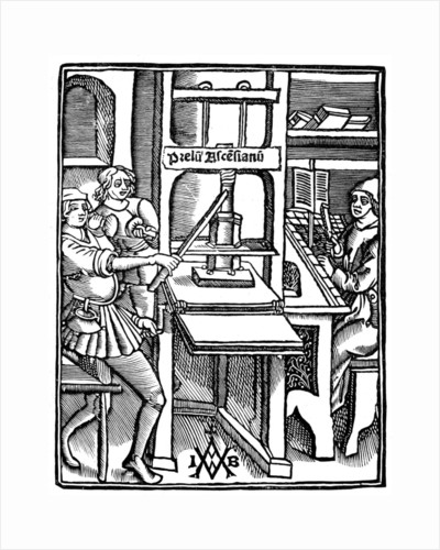 Printing press by Anonymous