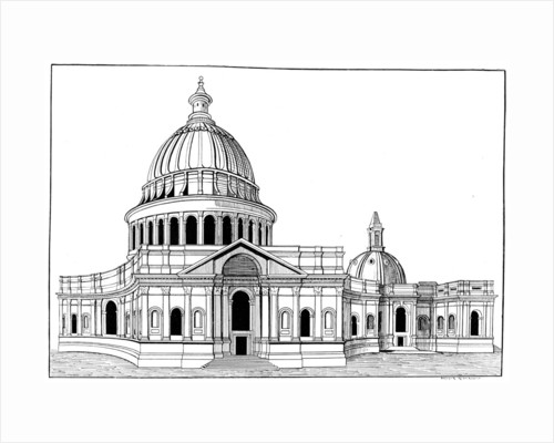 Sir Christopher Wren's original model for St Paul's cathedral, London by Arthur Robertson