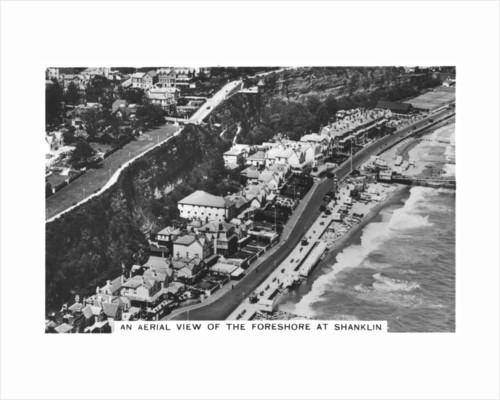An arial view of the foreshore at Shanklin by Anonymous