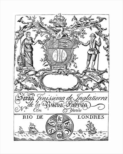 Trade label of the South Sea Company by Anonymous