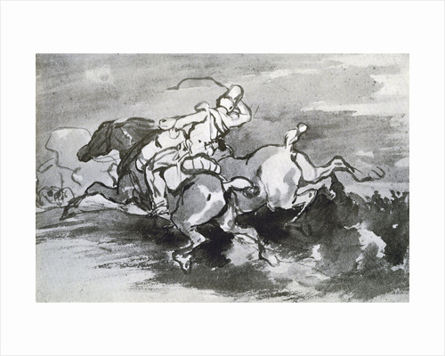 Artilleryman Leading his Horses into the Field by Theodore Gericault