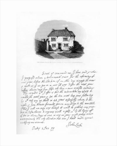 Part of a letter from John Locke to Sir Hans Sloane by John Locke