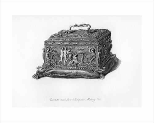 Carved cassolette made from the wood of Shakespeare's mulberry tree by C J Smith