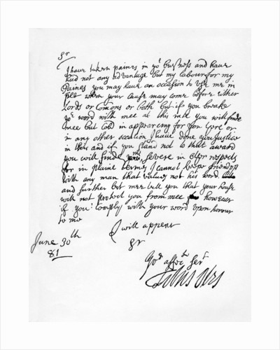 Facsimile of an original letter addressed by Titus Oates to Charles Howard by Titus Oates