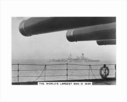 Battlecruiser HMS Hood, seen from HMS Nelson by Anonymous