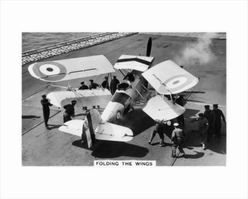 Hawker Osprey on the deck of the aircraft carrier HMS Eagle by Anonymous