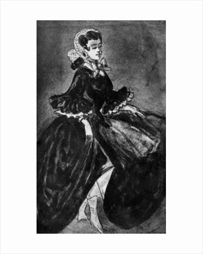 Femme Se Retroussant by Constantin Guys
