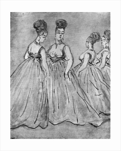 Four Ladies by Constantin Guys
