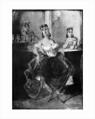 Femme Dansant Devant un Comptoir by Constantin Guys