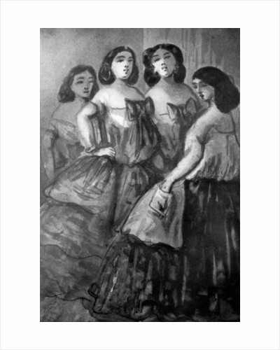 Four Girls by Constantin Guys