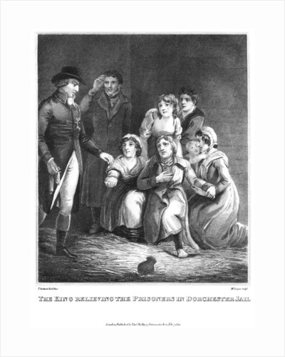 The king relieving the prisoners in Dorchester jail by Cooper