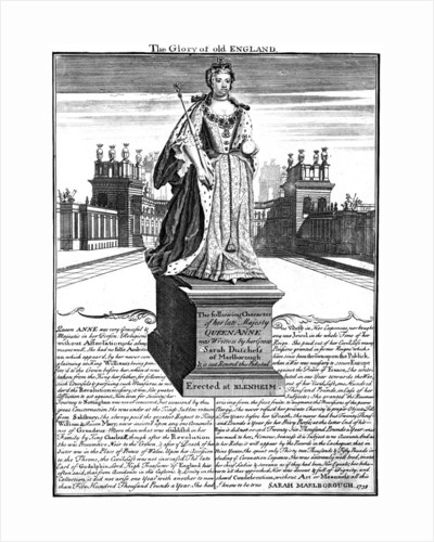 Statue of Queen Anne (1665-1714), Blenheim Palace, Oxfordshire by Anonymous