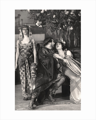Herbert Beerbohm Tree, Constance Collier and Alice Crawford, English actors by FW Burford