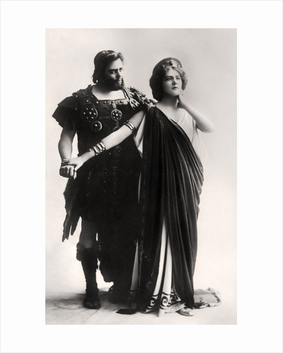 Oscar Asche and Lily Brayton in a scene from The Virgin Goddess by Rita Martin