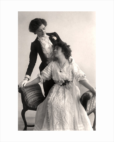 Lily Elsie (1886-1962) and Adrienne Augarde (1882-1913), English actresses by Foulsham and Banfield
