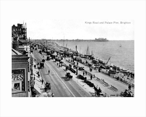 King's Road and the Palace Pier, Brighton, Sussex by Anonymous