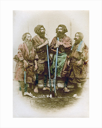 Group of Ainu people, Japan by Felice Beato