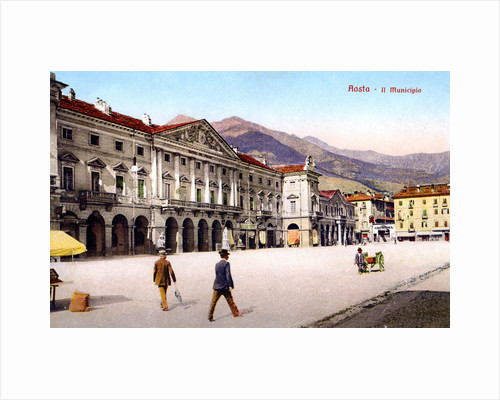 Aosta - Il Municipio by Anonymous