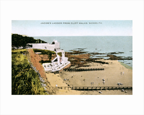 Jacob's Ladder, as seen from Cliff Walks, Sidmouth, Devon by Anonymous