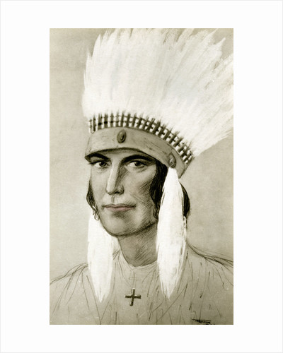 Portrait of an American Indian by Anonymous