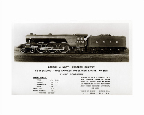 The 'Flying Scotsman' steam locomotive by Anonymous