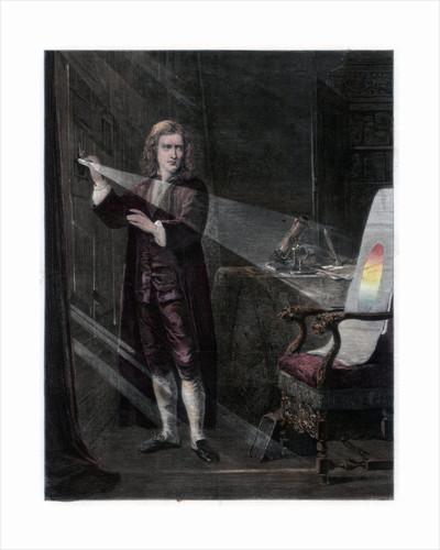 Newton investigating light by William Mouat Loudan