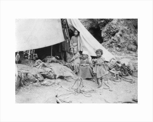 Hill tribe family, Chakrata by Anonymous