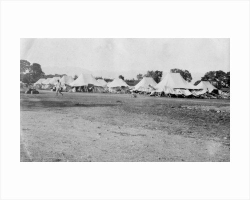 British army encampment, Dehra Dun, India by Anonymous
