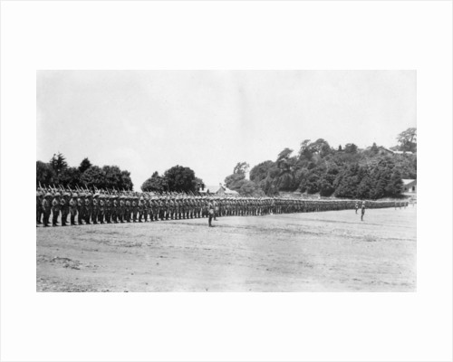 5th Battalion East Surrey regiment on parade, Chakrata by Anonymous