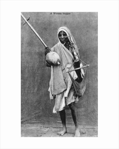 A begger, India by Anonymous